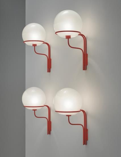 Ico Parisi Set Of Four Wall Lights Model No 256 Circa 1964 Each