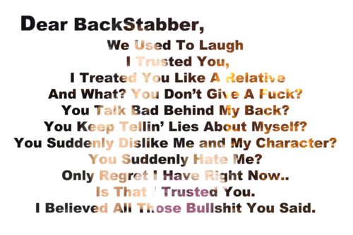 Signs Your Friend Is A Backstabber