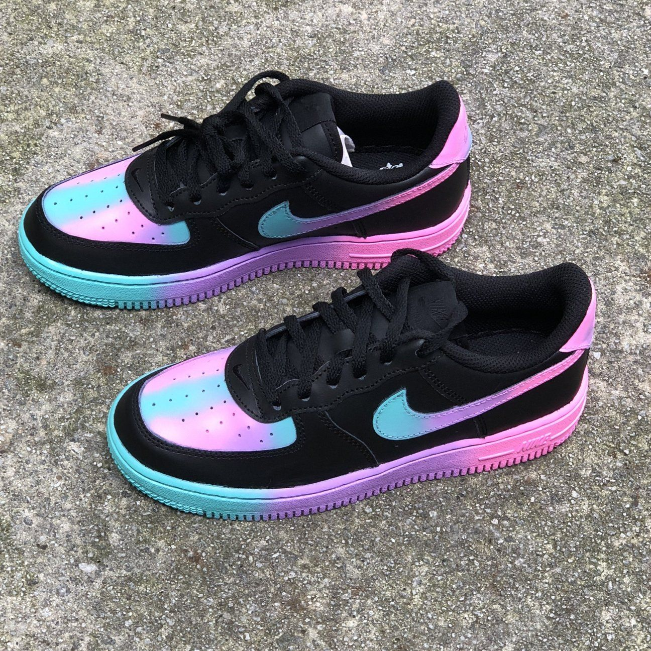 Black Unicorn Custom Painted Nike Low Air Force 1