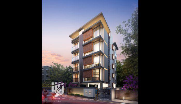 Modern apartment elevations visicom yahoo image search for Contemporary apartment elevations