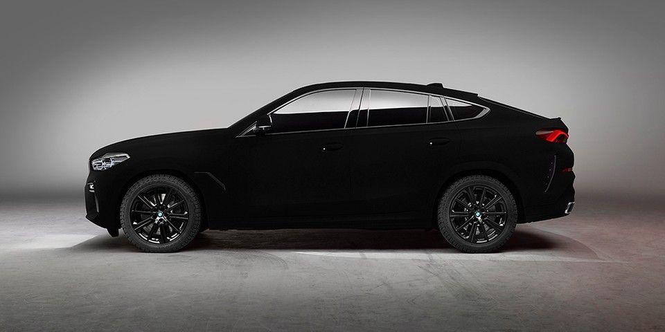 Bmw Dresses X6 Coupe In World S Blackest Black Black Car Bmw Car