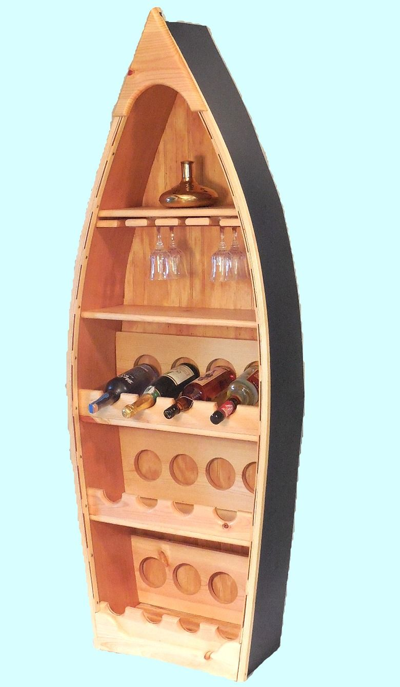 Robin S Dockside Shop Rowboat Wine Rack Boat Shelf Boat Building Wine Rack