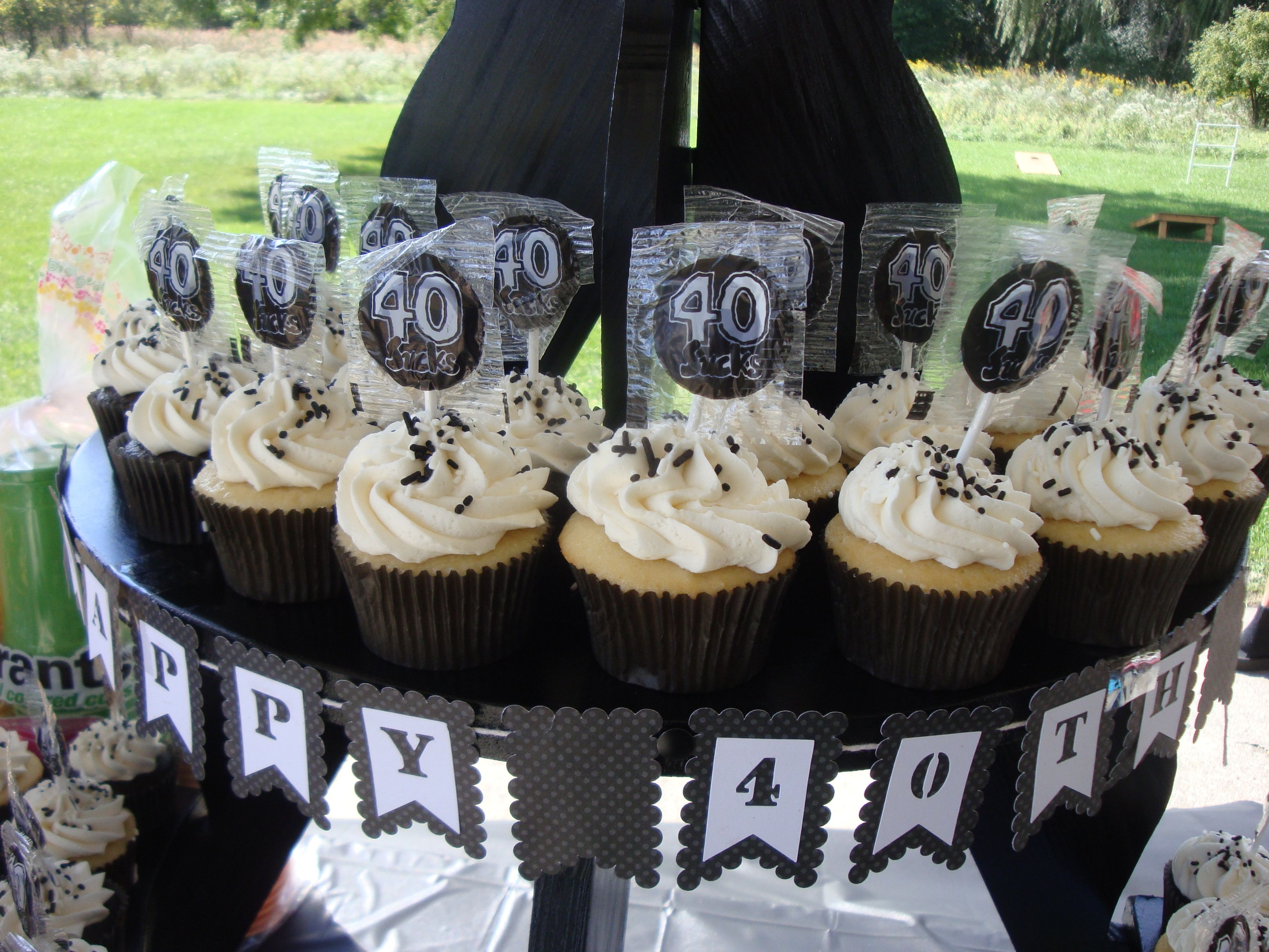 40th Birthday Cupcakes Cupcake Scoops Pinterest 40th birthday