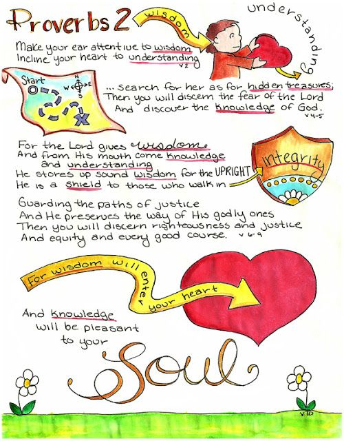 Doodle Through The Bible Proverbs 2 Illustrated Faith Journal Entry For Good Morning Girls