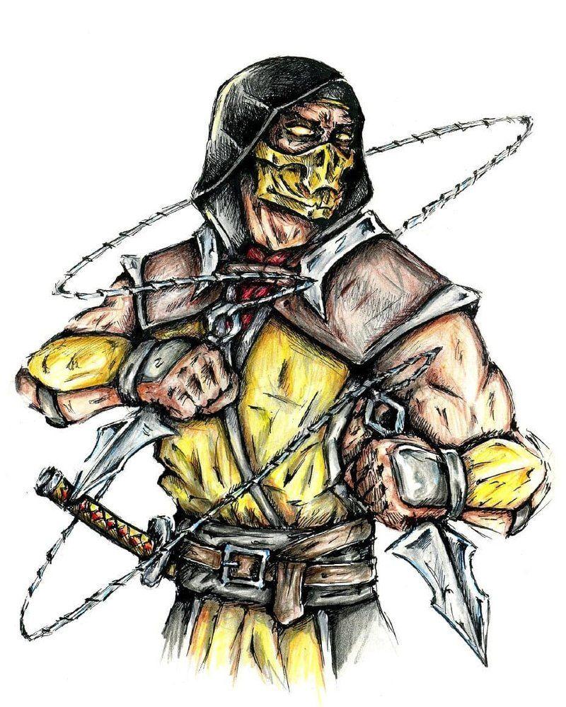Scorpion By G O Dimm On Deviantart Mortal Kombat Art Mortal