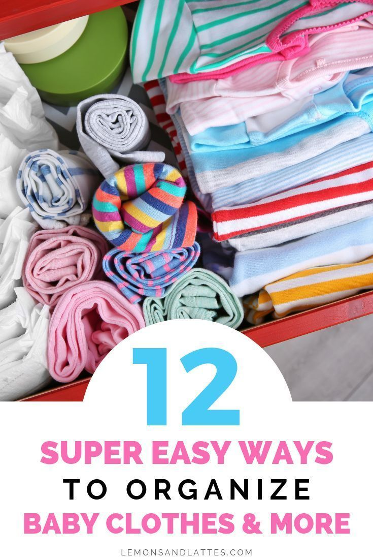 how to organize baby clothes in nursery