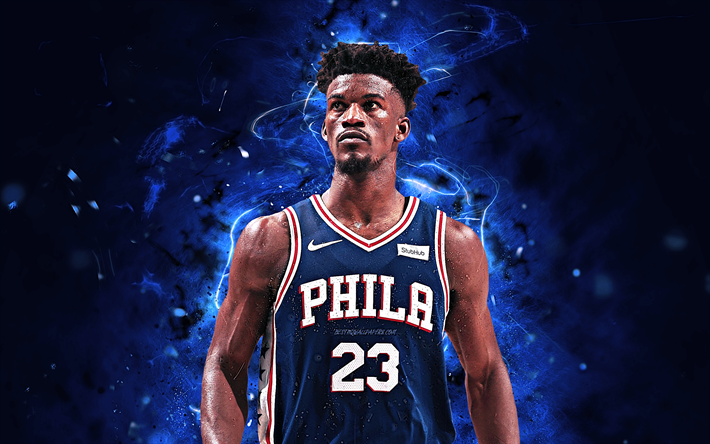Download Wallpapers Jimmy Butler Basketball Stars Nba Philadelphia 76ers Abstract Art Jimmy Butler Iii Neon Lights Basketball Creative Besthqwallpapers Basketball Star Philadelphia 76ers Sports Wallpapers