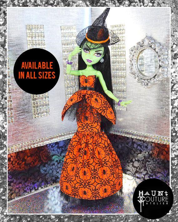 Monster doll hanter couture all hallows 39 eve glamour robe robe de v tements de monde de - Tenue monster high ...