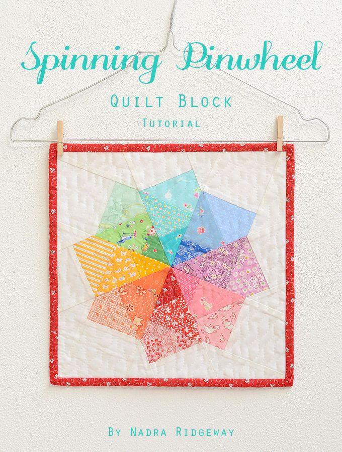 Spinning Pinwheel_1 | Patchwork-Quillt | Pinterest | Weiße bäume ...