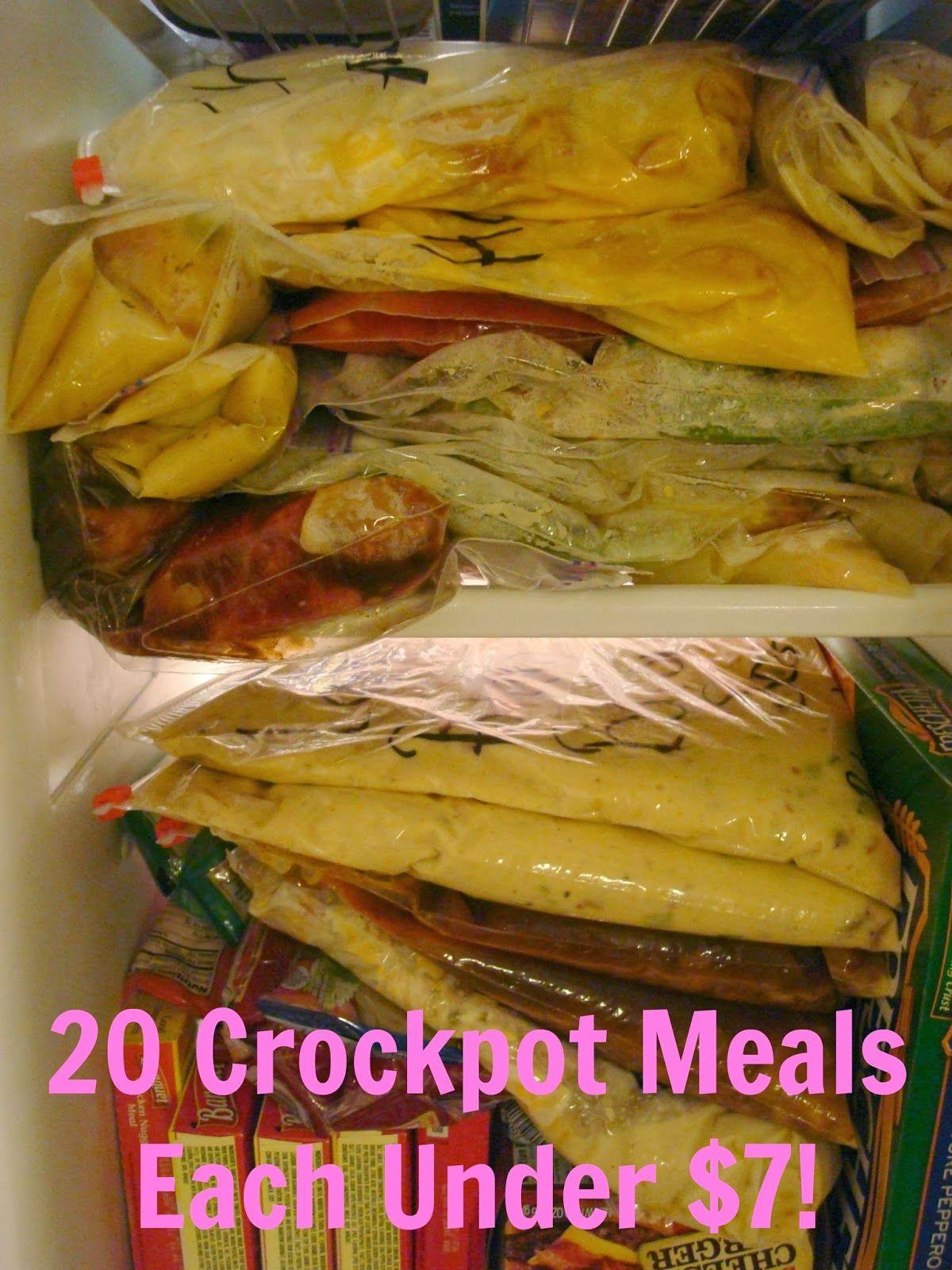 20 Crockpot meals