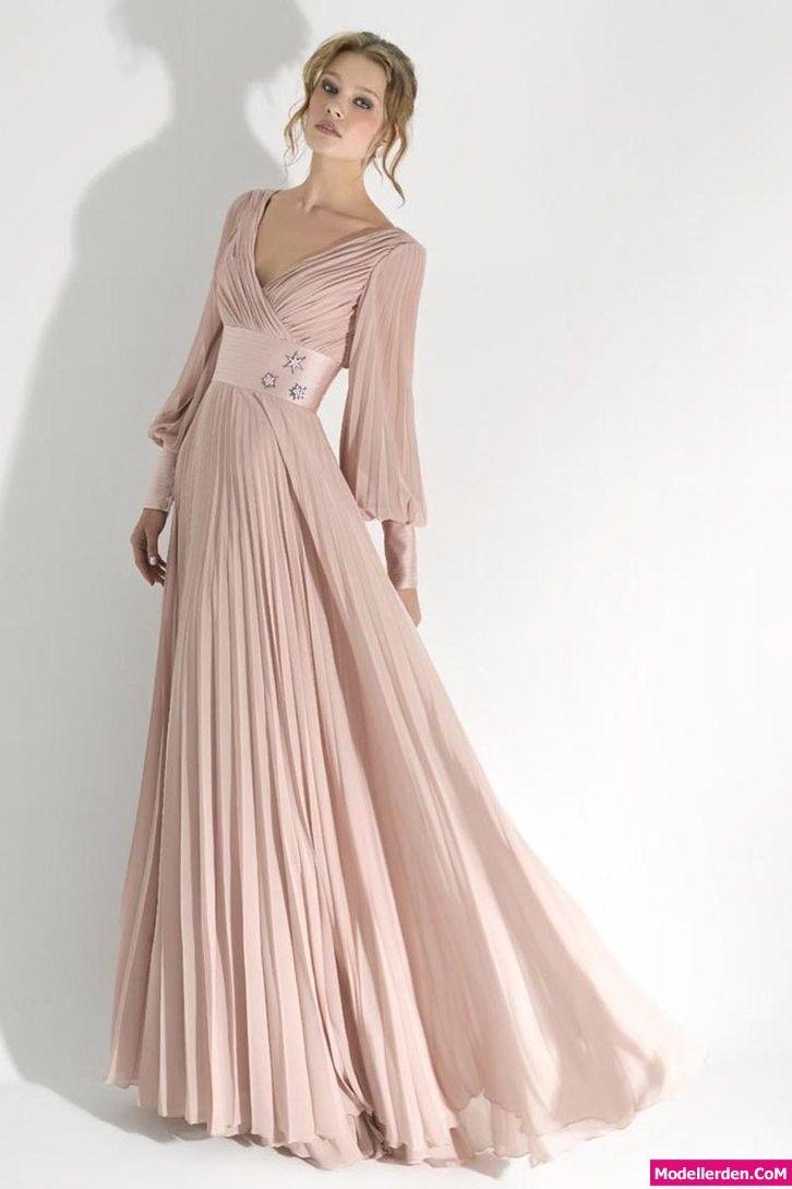 Uzun Kol Gece Elbiseleri | Abiye | Pinterest | Ropa y Vestiditos