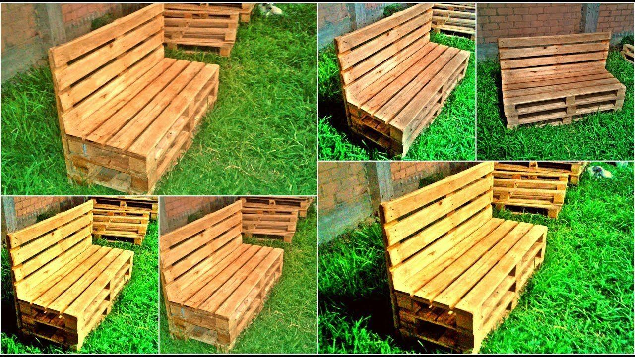 Banca de Palets o banca de madera para jardin detalles de madera ...