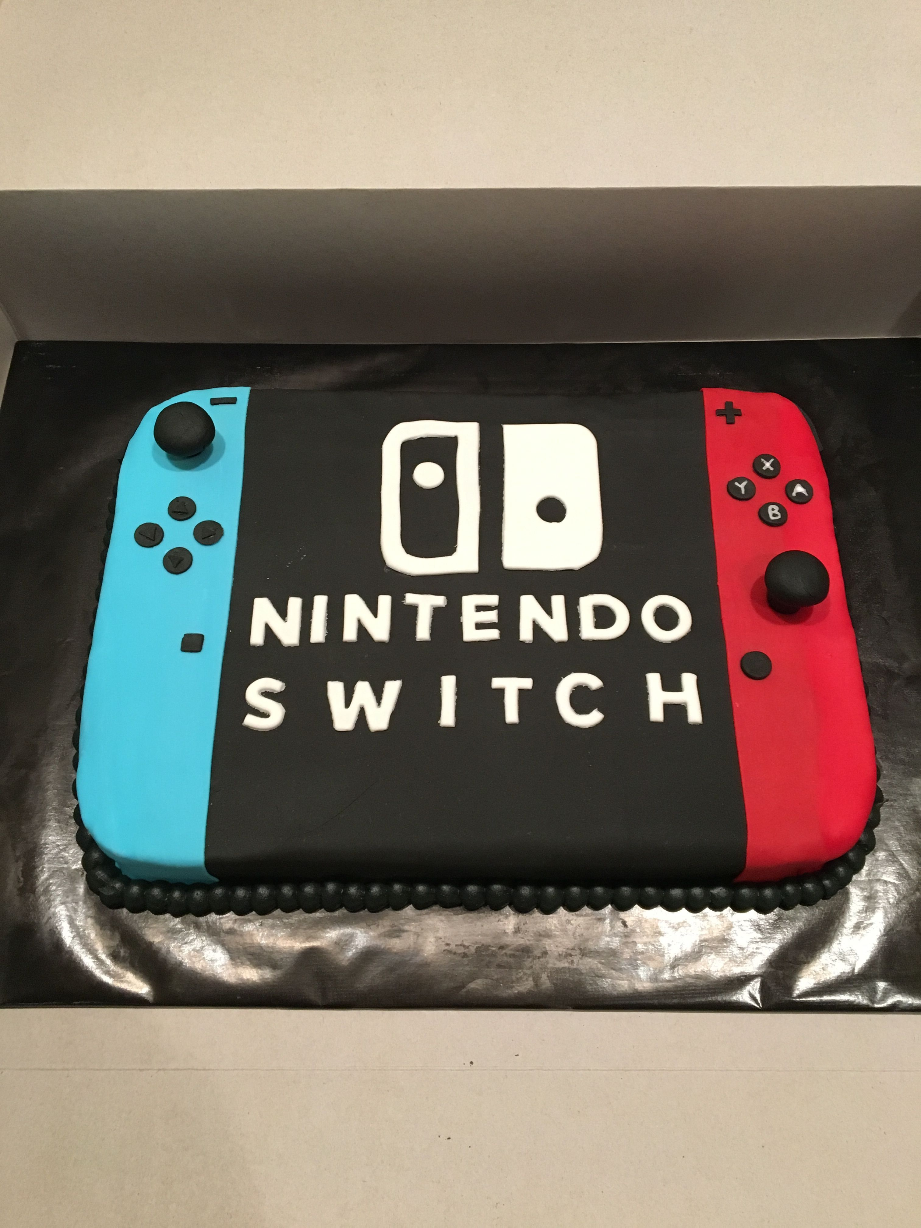 Astonishing Nintendo Switch Cake Nintendoswitch Nintendo Cake Nintendo Birthday Cards Printable Trancafe Filternl