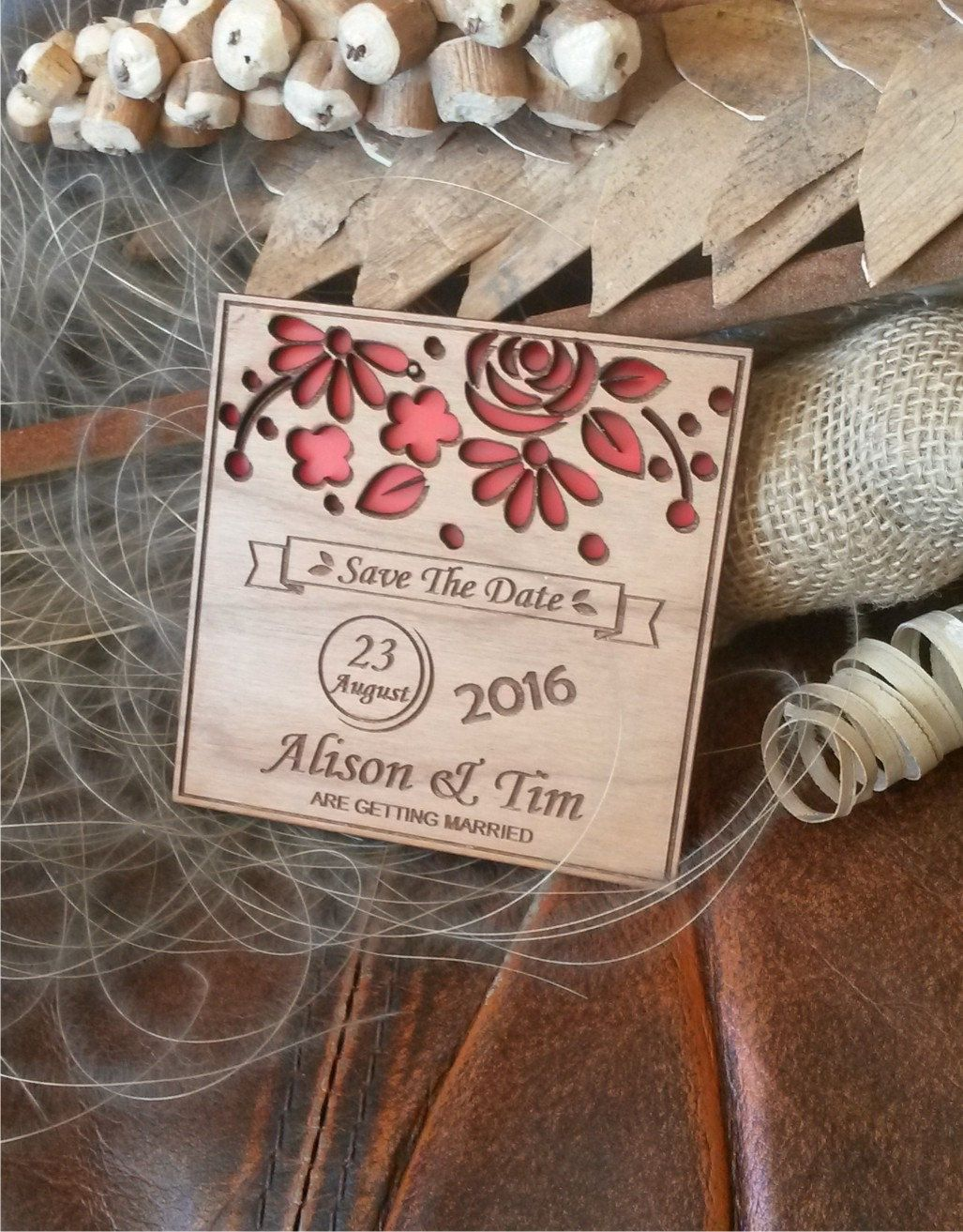 Wood Save The Date Magnets Engraved Wooden Wedding Magnets Laser