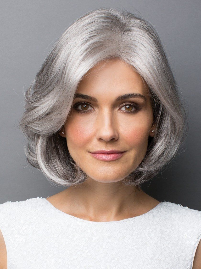 Amal synthetic wig traditional cap in gray hair