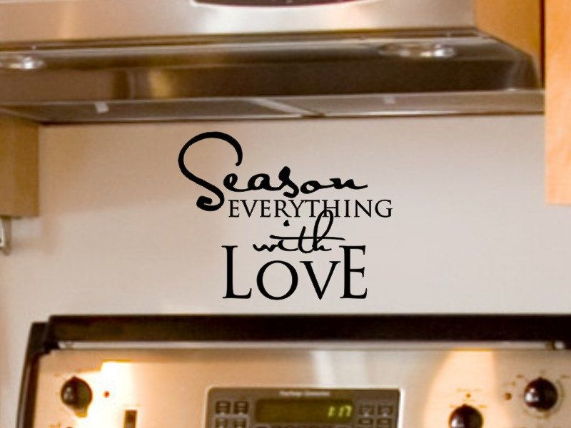 Season everything with love kitchen wall decal 9 00 via etsy