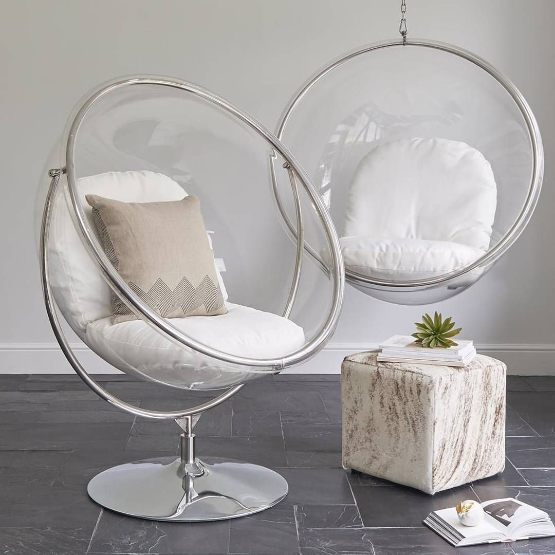 Bubble Chair On Stand Adirondack Wooden Chairs Eero Aarnio Designed The Original Hanging As A With Light Inside It Transparent Ball Where Comes From All Directions
