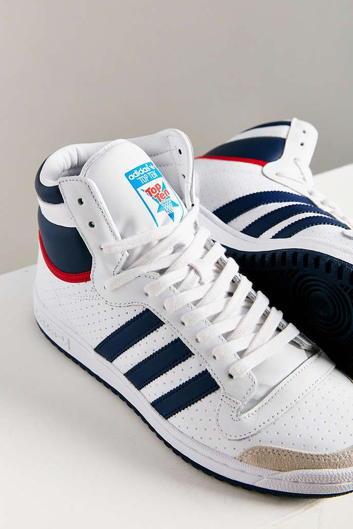 Top Ten Sparring Gloves In Red Used By World Champions: Adidas Originals Top Ten Hi High Top Sneaker