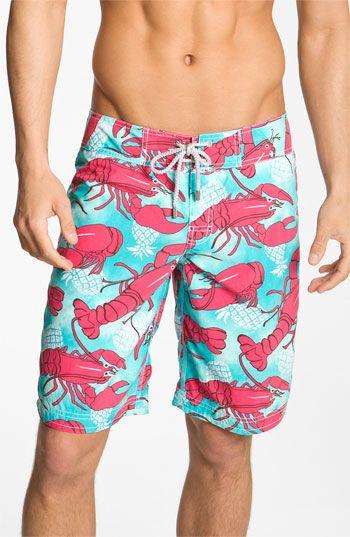 2b9255b8ee Vilebrequin 'Ocean Surfer' Lobster Print Board Shorts | Nordstrom Crab  Shack, Men's Swimsuits