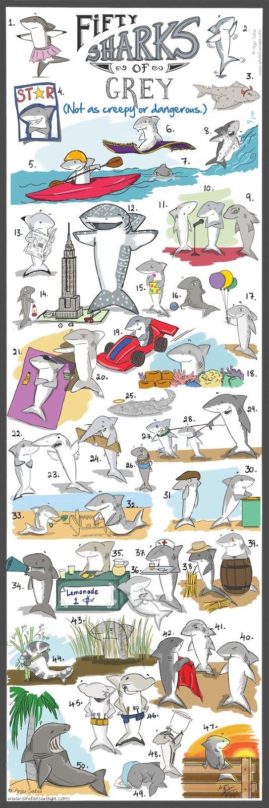 """Oh, Dakuwaqa!"" - The Shark comics and cartoons: Fifty Sharks of Grey"
