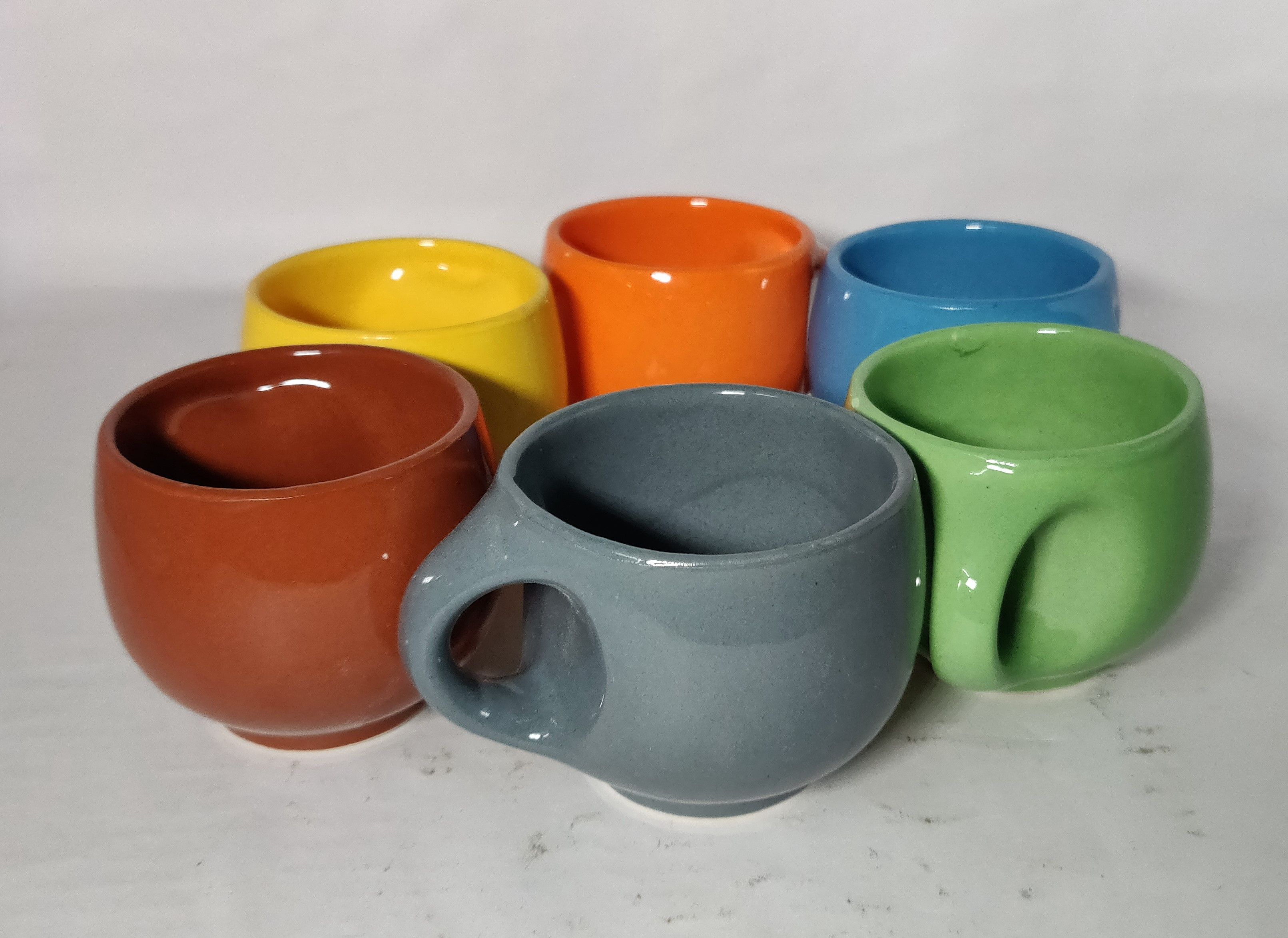 Very Attractive Ceramic Tea Cups Pack Of 6 Hand Made By Artisans Of India Ceramic Tea Cup Tea Cups Fun Cup