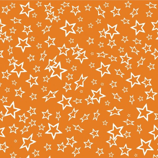 Estrellas Blancas Sobre Fondo Naranja.