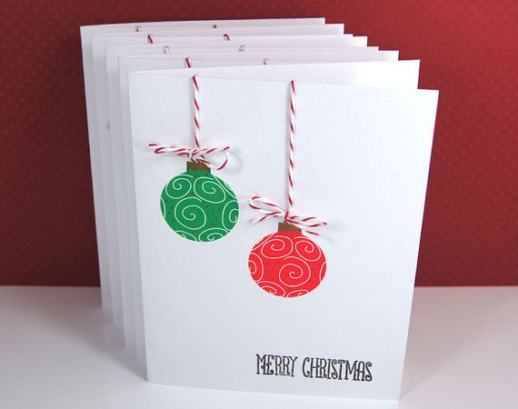 Christmas Cards Ornaments Red Green Gold Baker S Twine Christmas