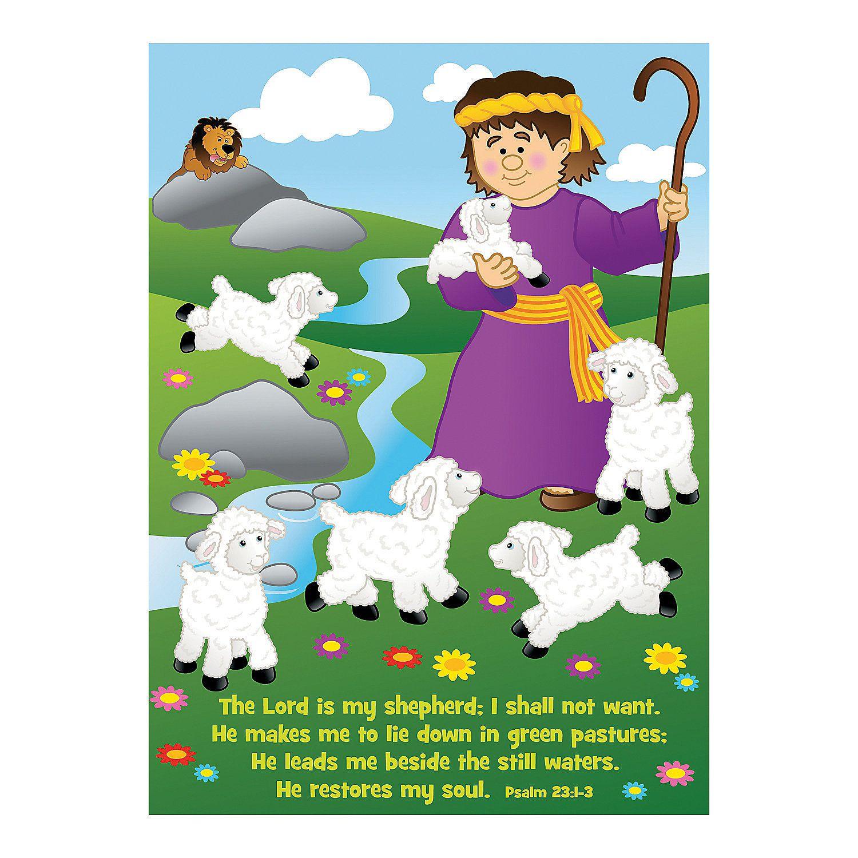 Make-A-David With Sheep Sticker Scenes - OrientalTrading.com (for ...
