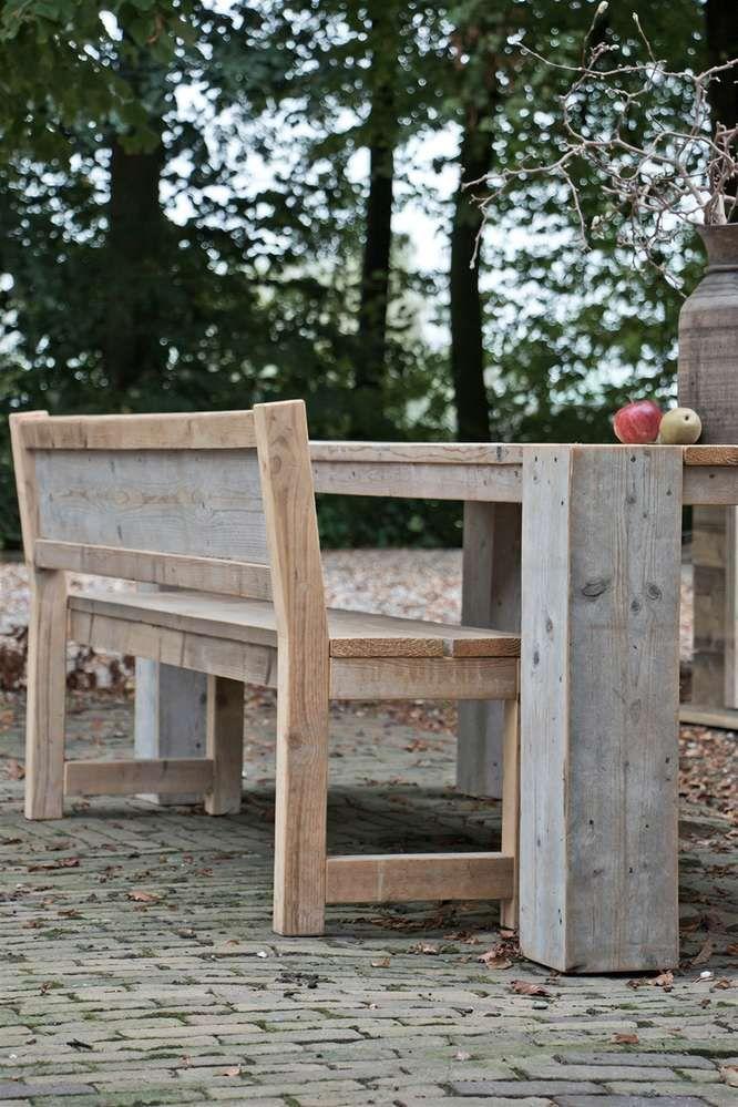 Gartenbank Rustik - Gartenmöbel aus Bauholz | Bauholz Gartenmöbel ...