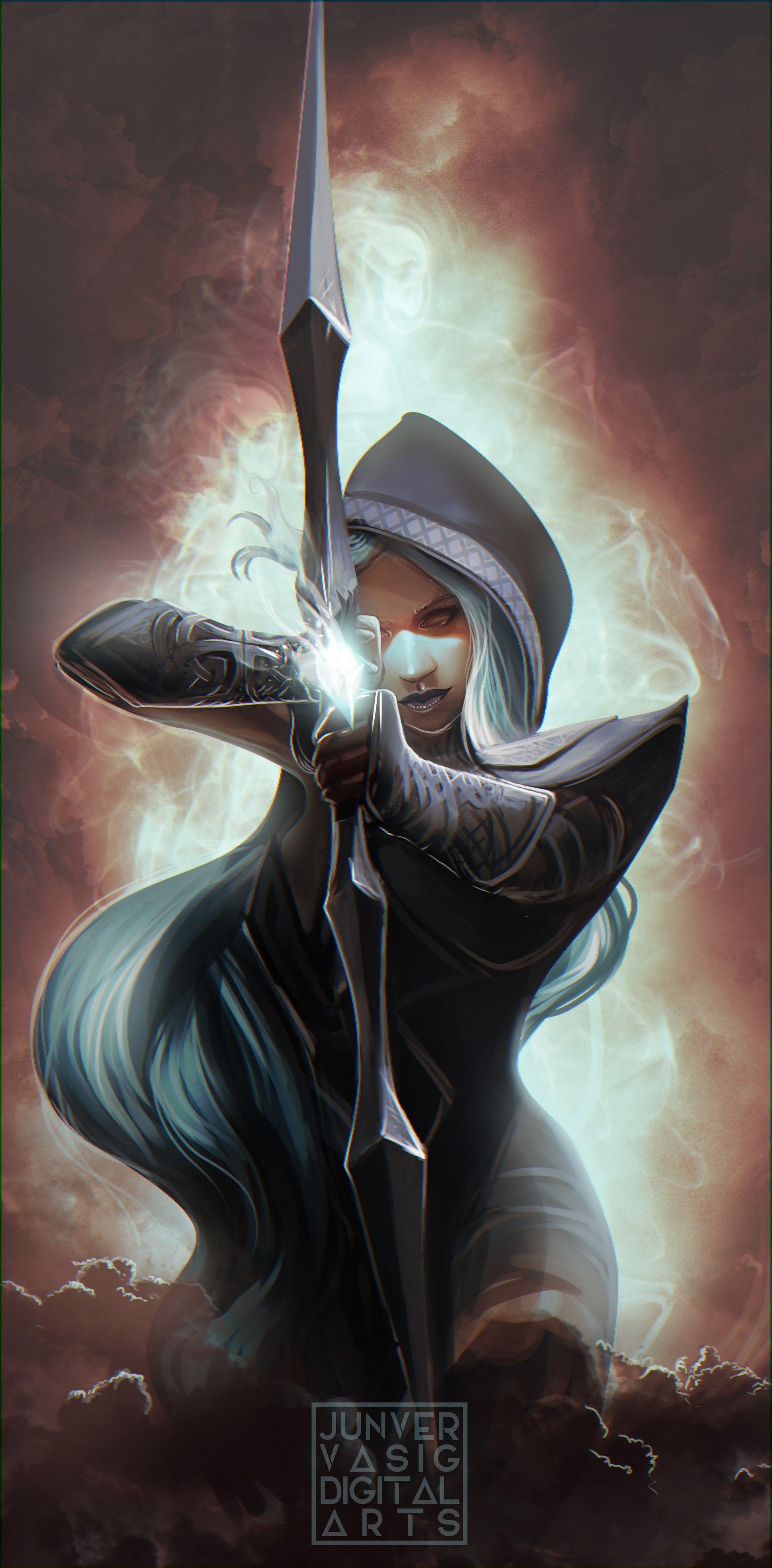 ArtStation - Drow Ranger of DOTA2, Junver Vasig | Fantasy art, Fantasy  artwork, Fantasy
