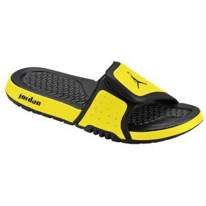 5dd0e309b86123 Jordan Hydro II - Men s - Basketball - Shoes - Black Black Speed Yellow   Eastbay