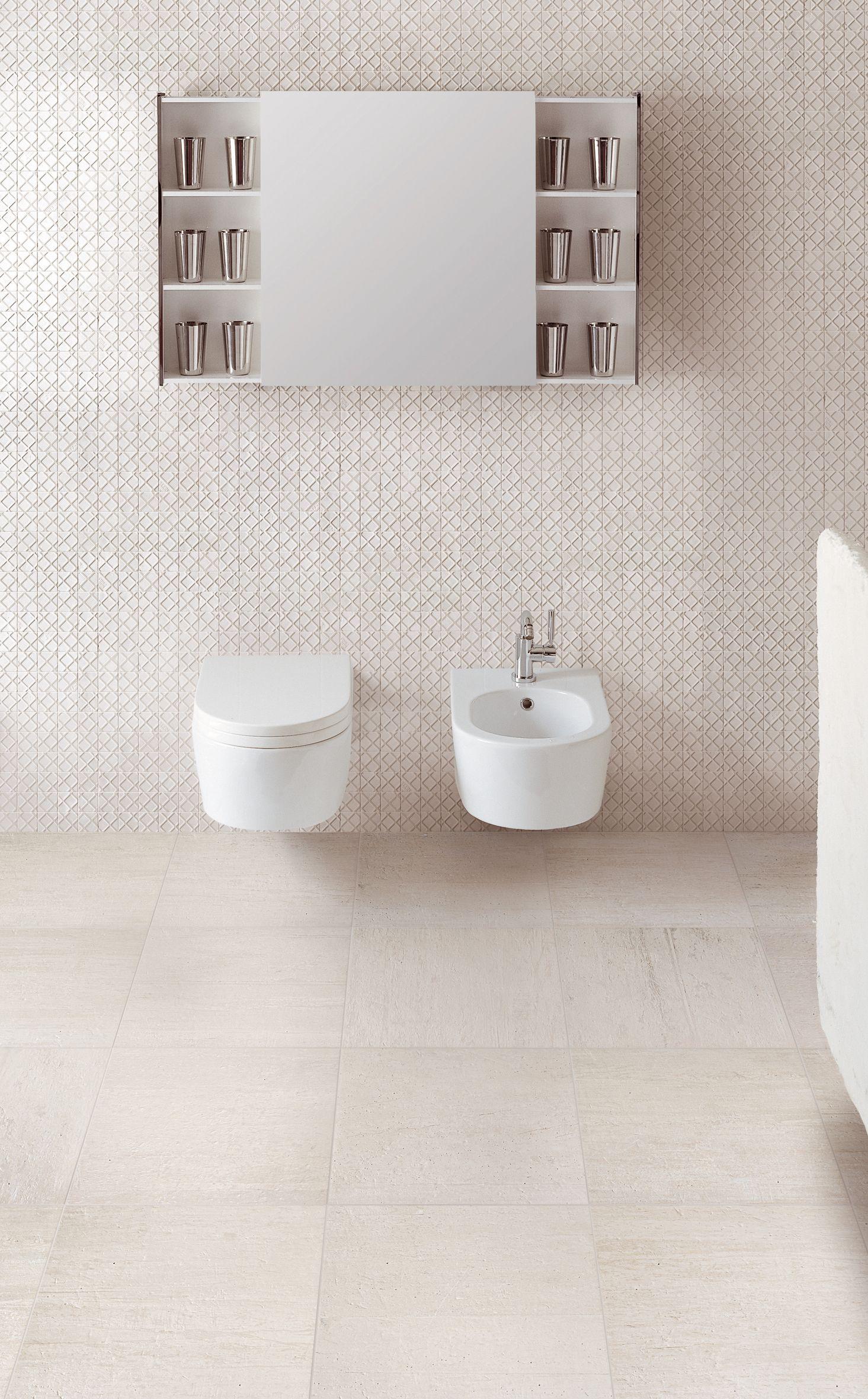 Wood2 porcelain tiles in COTTON. http://www.refin-ceramic-tiles.com ...