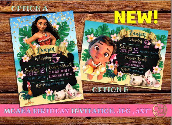 Moana Invitation Moana Birthday Invitation Moana Party Moana