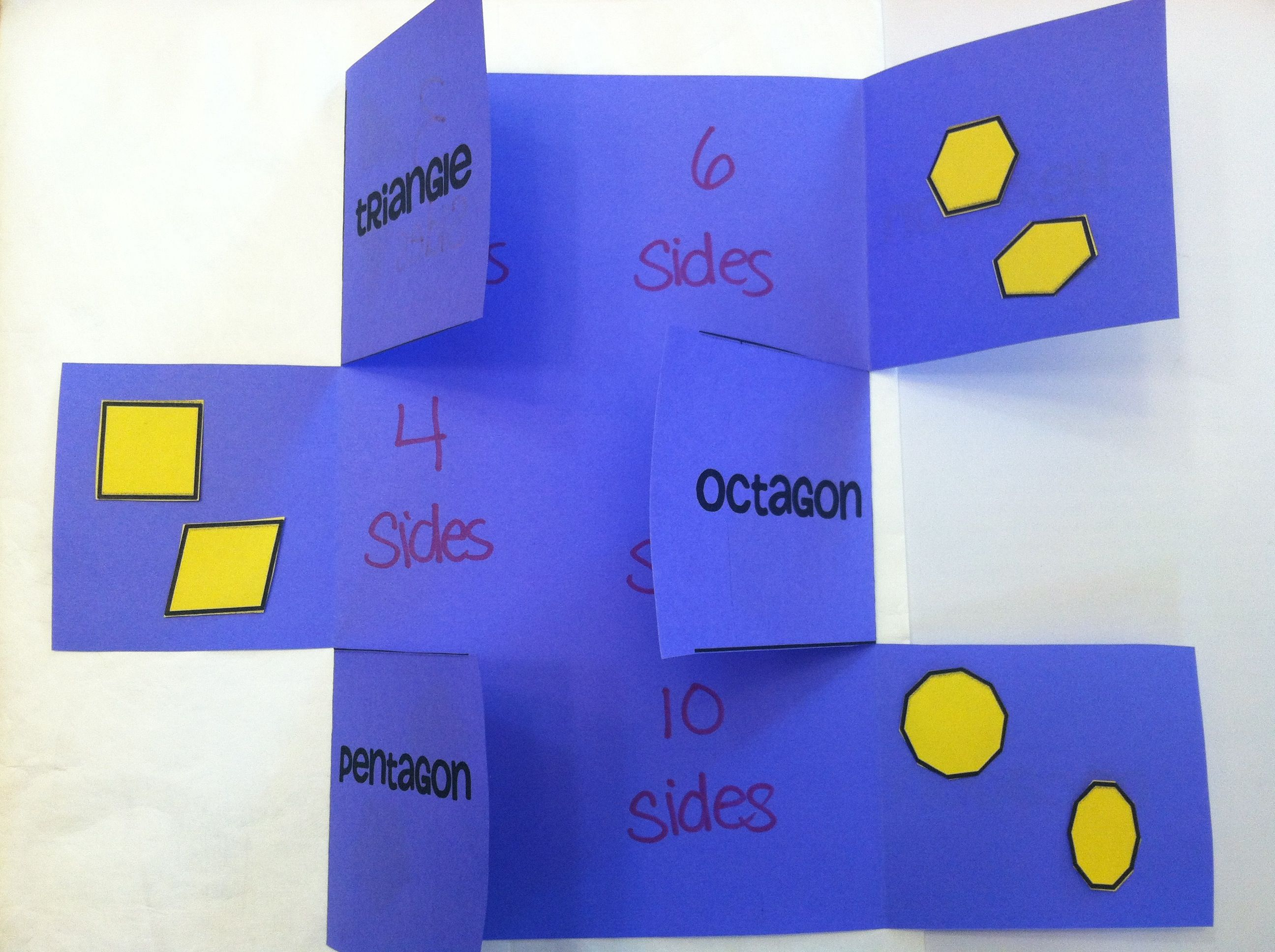 Polygon Foldable Template Provided Math