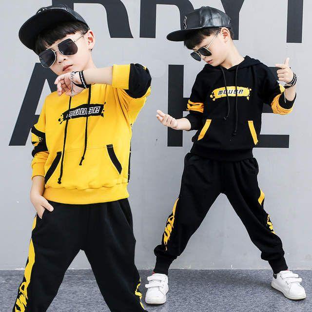 Tienda Online Ropa Para Bebés 2019 Primavera Y Otoño Traje De Hip Hop Traje Deportivo Para Niños Personalida Boys Designer Clothes Sports Suit Tracksuit Outfit