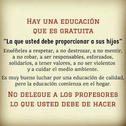 Hay una educación que es gratuita