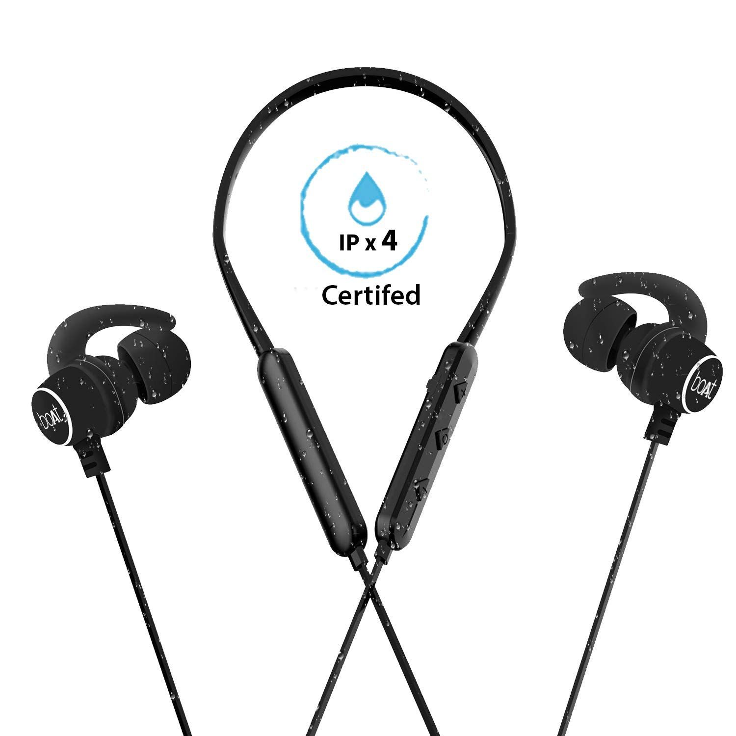 966b6450795eed boAt Rockerz 255 Sports Bluetooth Wireless Earphone with Immersive Stereo  Sound and Hands Free Mic (Active Black): Buy boAt Rockerz 255 Sports  Bluetooth ...