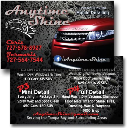 mobile detailing business cards pinterest - Car Wash Business Cards