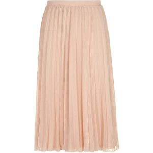 Dorothy Perkins Tall Blush Pleated Midi Skirt | Inventory ...