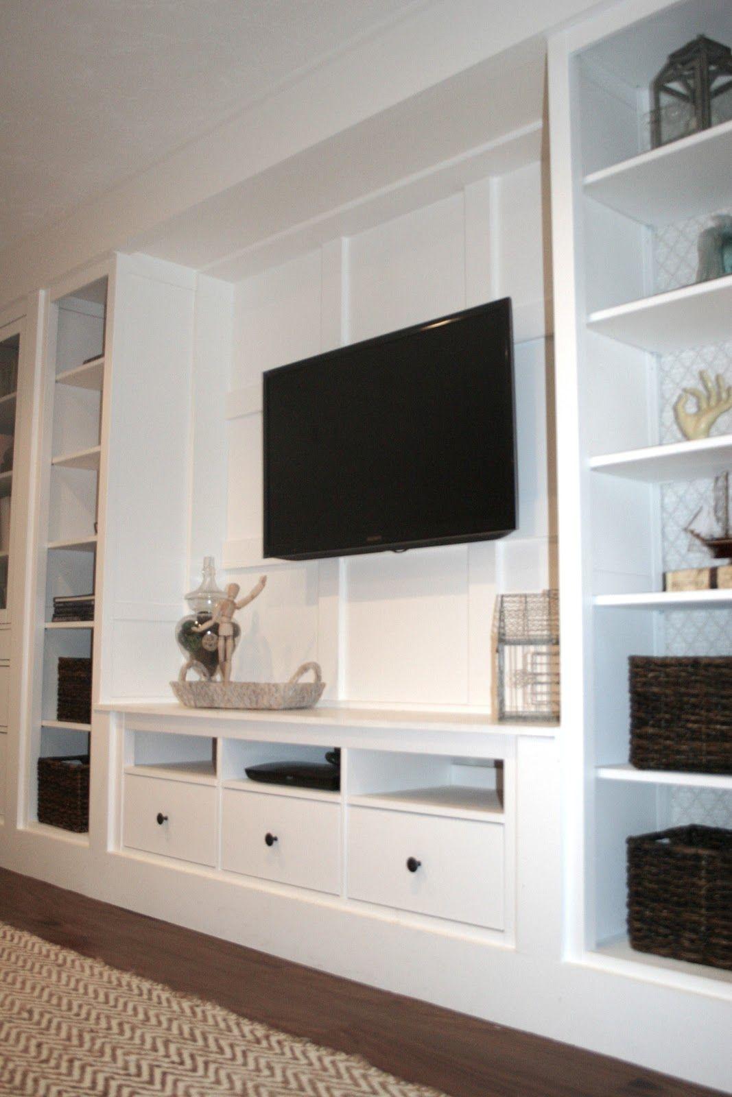 Basement Update Tour Home Living Room Home Living Tv Built In