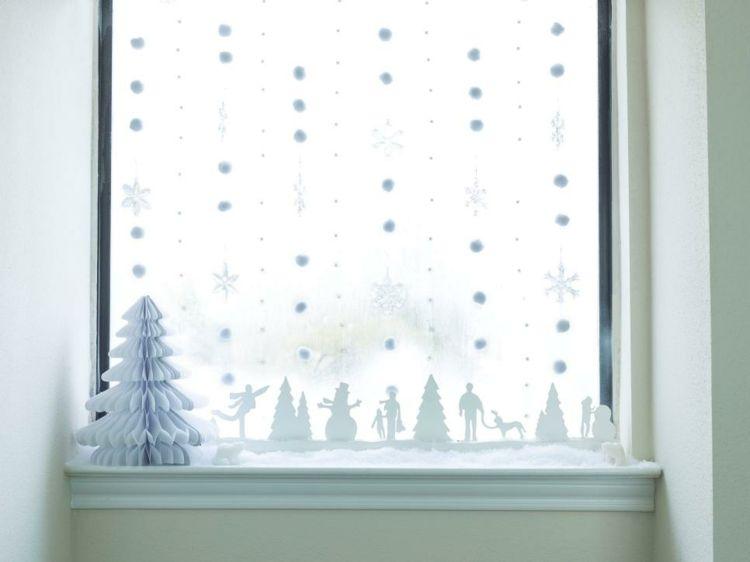 Weihnachtsdeko schneeflocken watte