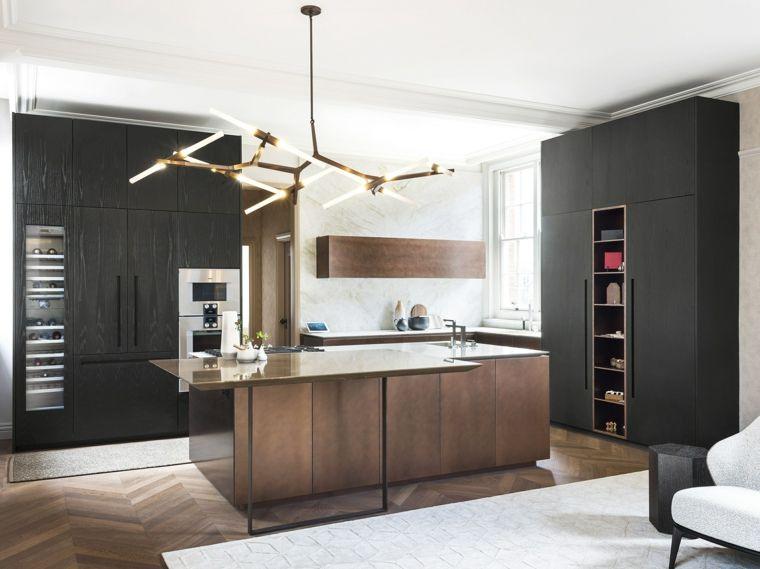 cocina de madera piedra y cobre de TM Italia Cucine   Interiores ...