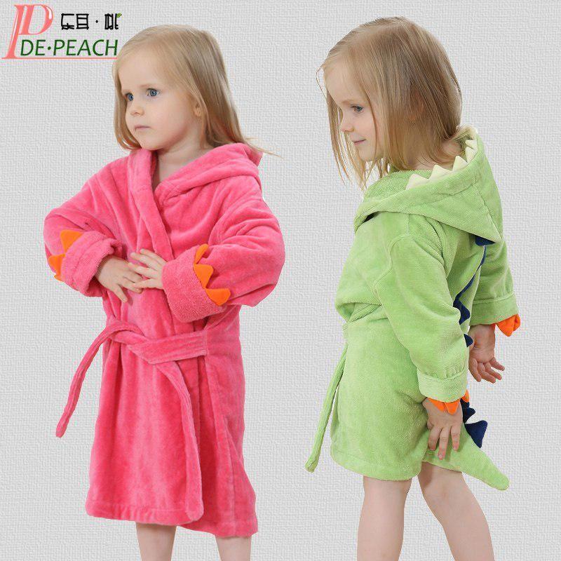 fd2a40ea5 Hot Sale Hooded Cartoon Baby Towel Bath Robe Animal Modeling Baby Bathrobe  Character Kids Infant Pajamas