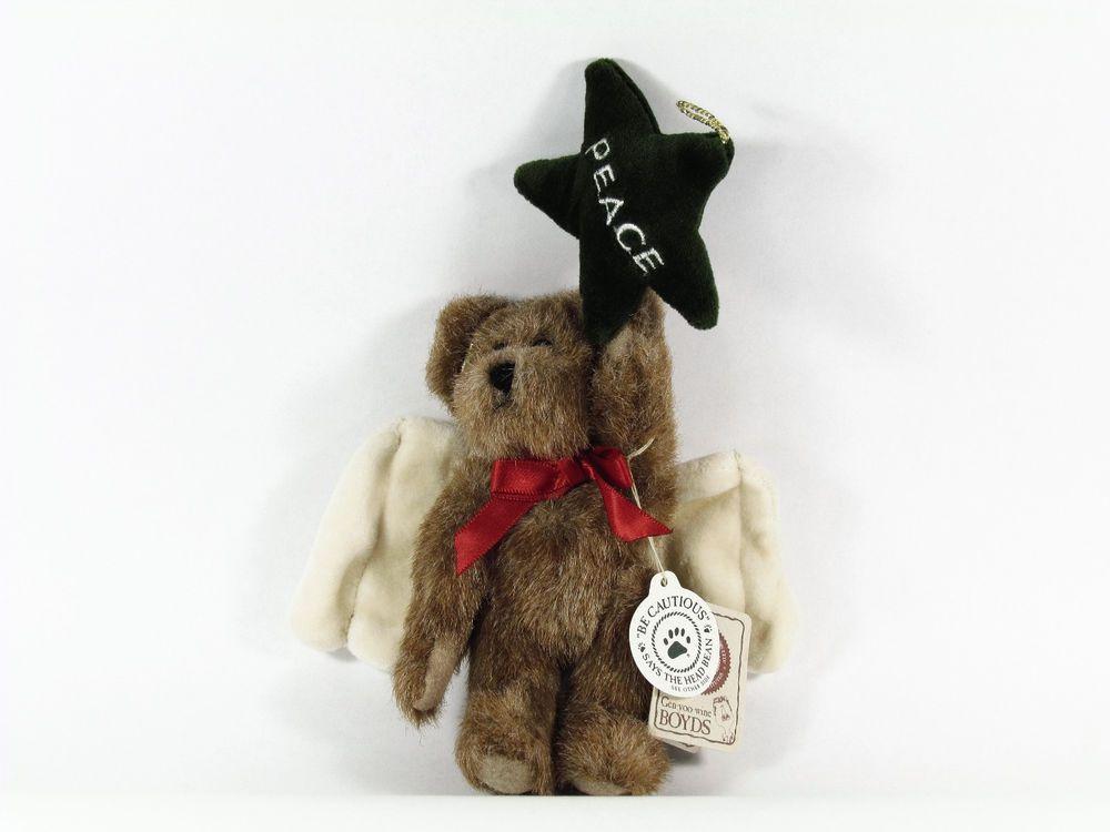 New Boyds Bears P. B. Starcatcher Christmas Angel Peace Star Ornament #562409 #Christmas