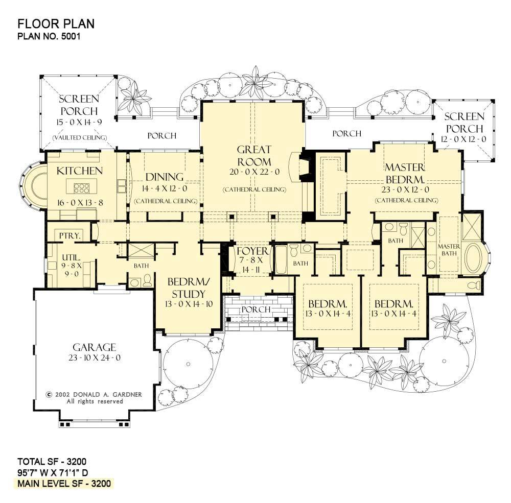 View Oriented House Plans One Story Home Plans Family House Plans House Floor Plans House Plans One Story