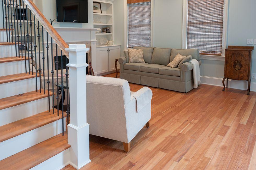 Best Vertical Grade Heartpine With Matching Stair Treads 640 x 480