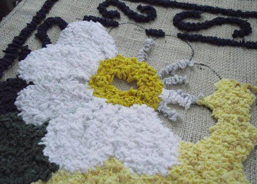 alfombra bordada con trapillo | Alfombra de enganche ...