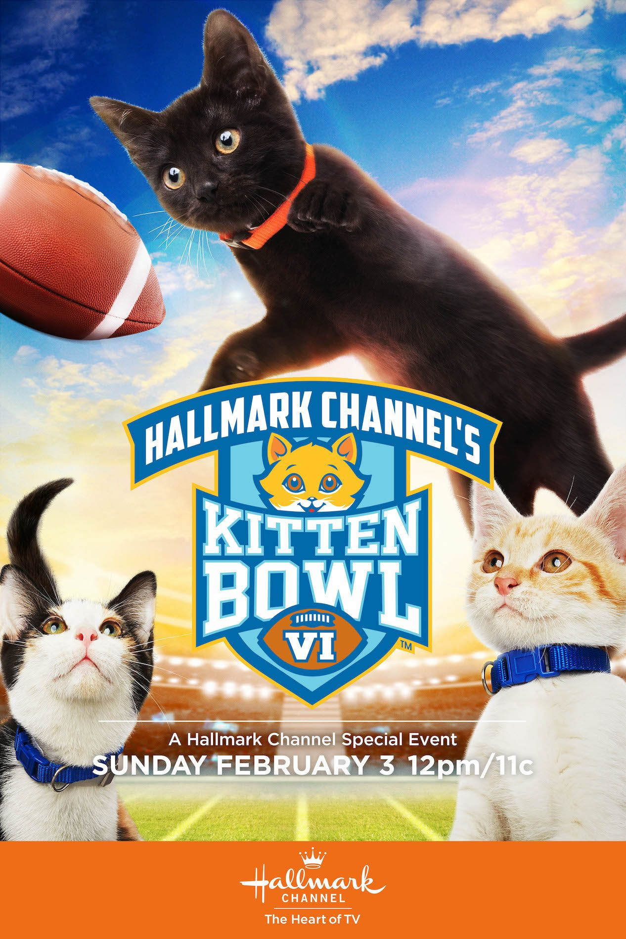 The Sixth Annual Kitten Bowl Delivers Pawsome Action On The Field The Big Game Kicks Off February 3 Only On Hallmark Cha Kitten Bowls Kitten Hallmark Channel