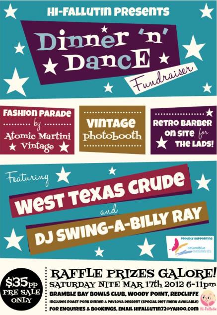 Flyer RockabillyVintageSwing Fundraiser Dinner Dance – Fundraising Flyer