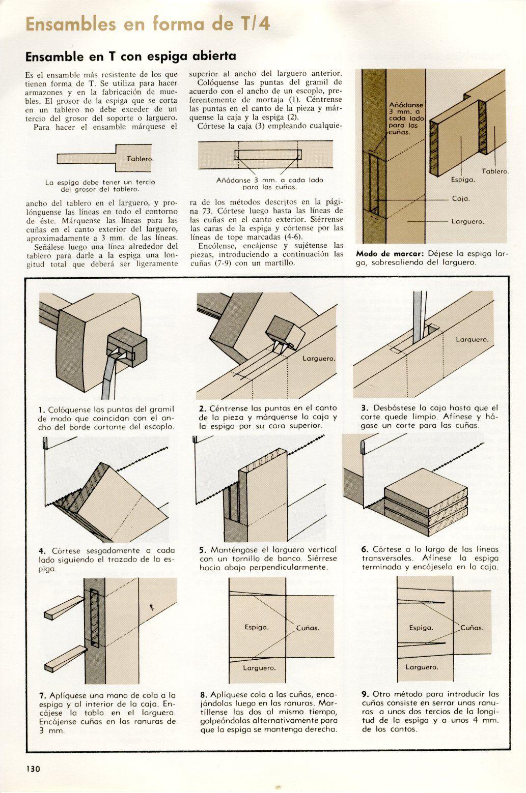 Resultado de imagen de ensambles de madera pdf for Planos de muebles de madera pdf